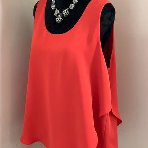 NIC+ZOE Orange Promenade Layer Sleeveless Top